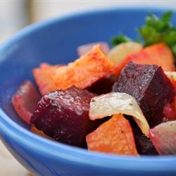 roasted beet sweet potato