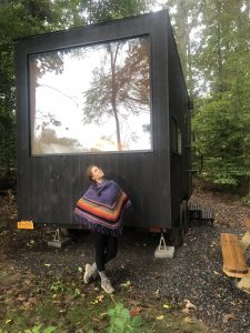 Getaway House Tiny House Cabin Woods Ariele Foster Poncho Woodsy